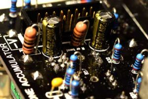 Installing the electrolytic capacitors